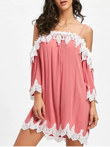 https://www.rosegal.com/casual-dresses/open-shoulder-crochet-trimmed-mini-dress-2043686.html