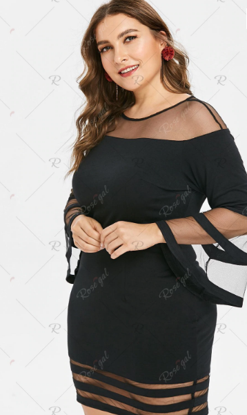 rosegal plus size bodycon dresses