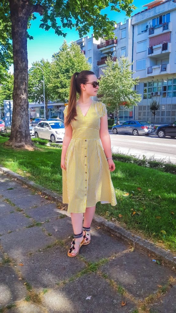 sun inspired outfit post livinglikev fashion blogger living like v style blogger bosnian blogger dropship clothing dropship clothes yellow dress summer dress