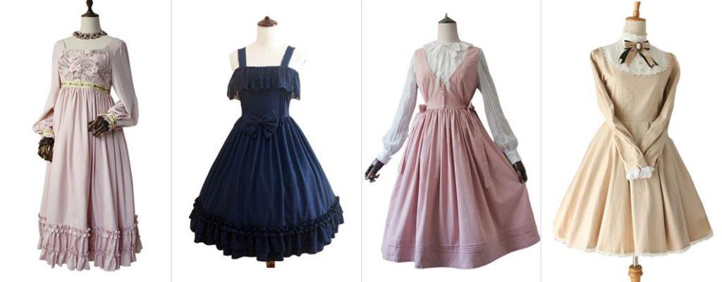 Different types of Lolita Fashion
