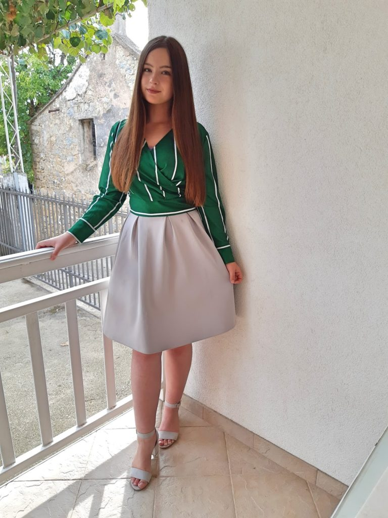 Outfit | Zeleno & Sivo