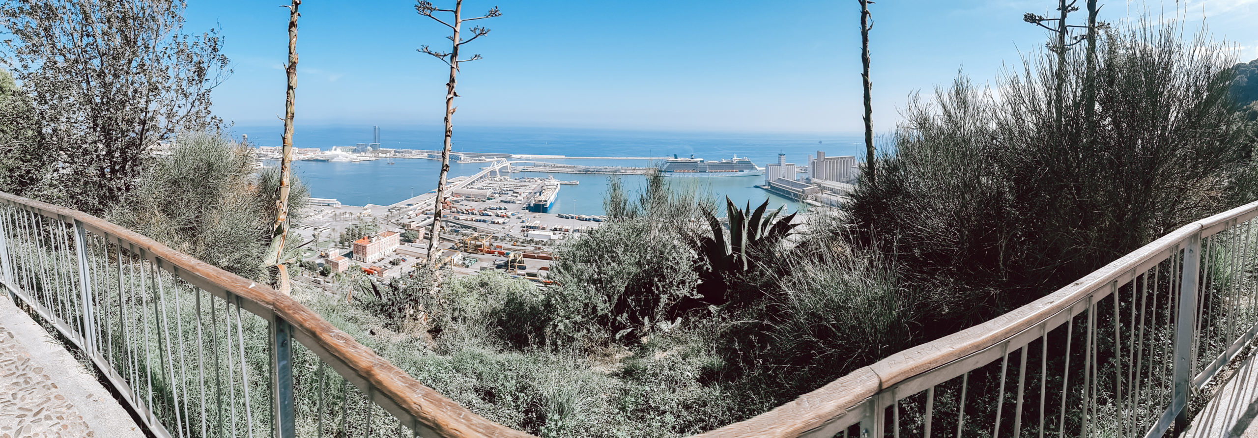 montjuic hill barcelona barcelona harbour view livinglikev fashion blogger living like v