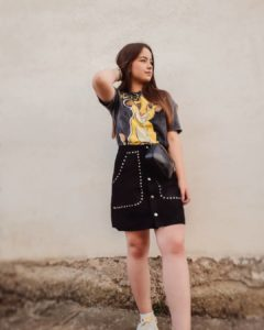 fashion favourites of 2019 livinglikev fashion blogger black skirt lion king t-shirt