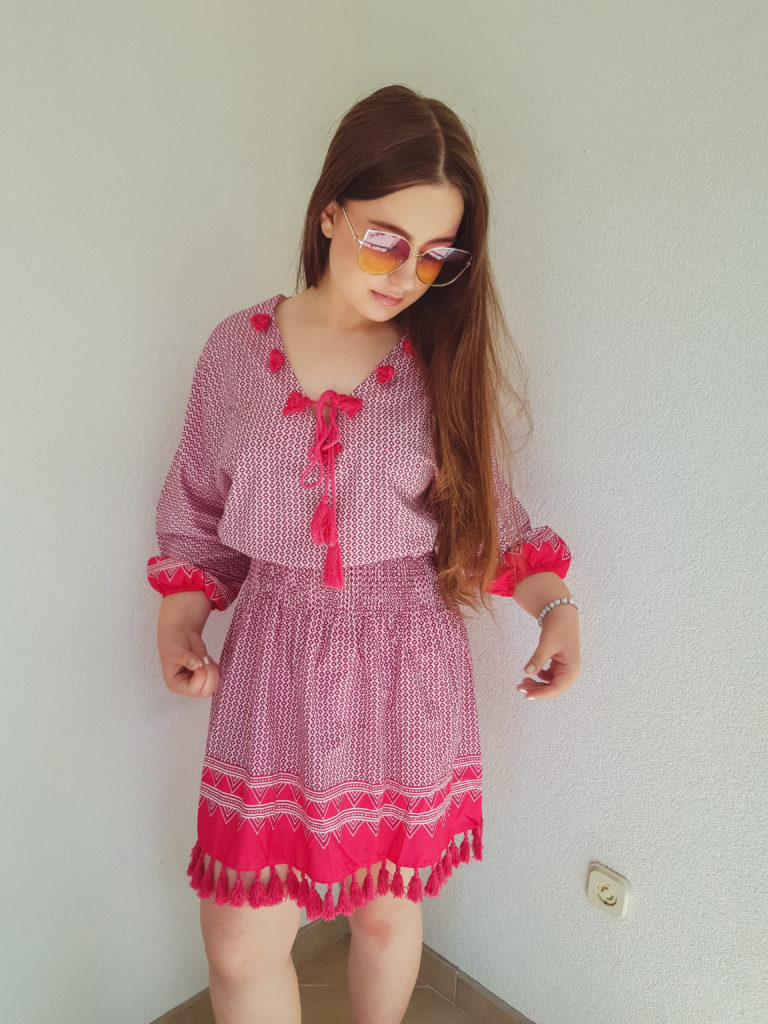beach dress review livinglikev fashion blogger living like v style blogger bosnian blogger outfit review online shopping experience