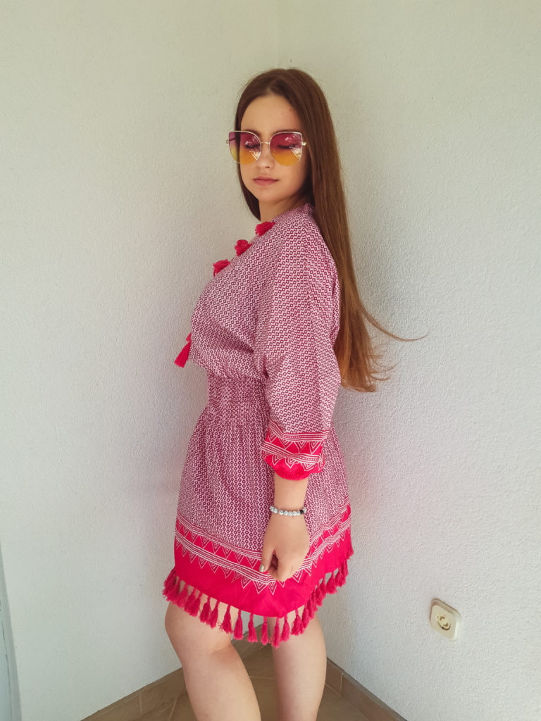 beach dress review livinglikev fashion blogger living like v style blogger bosnian blogger outfit review online shopping
