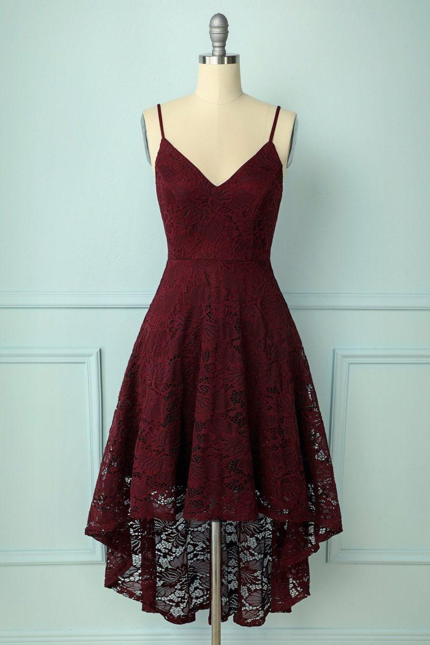 zapaka webshop living like v fashion blogger straps burgundy lace dress