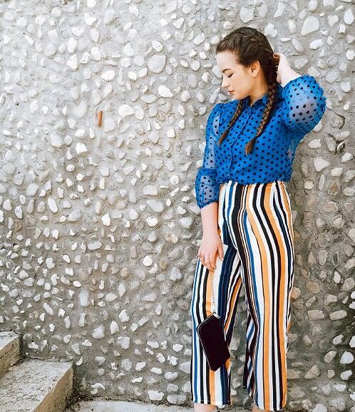 print on print inspo polka dots and stripes living like v style blogger fashion blogger