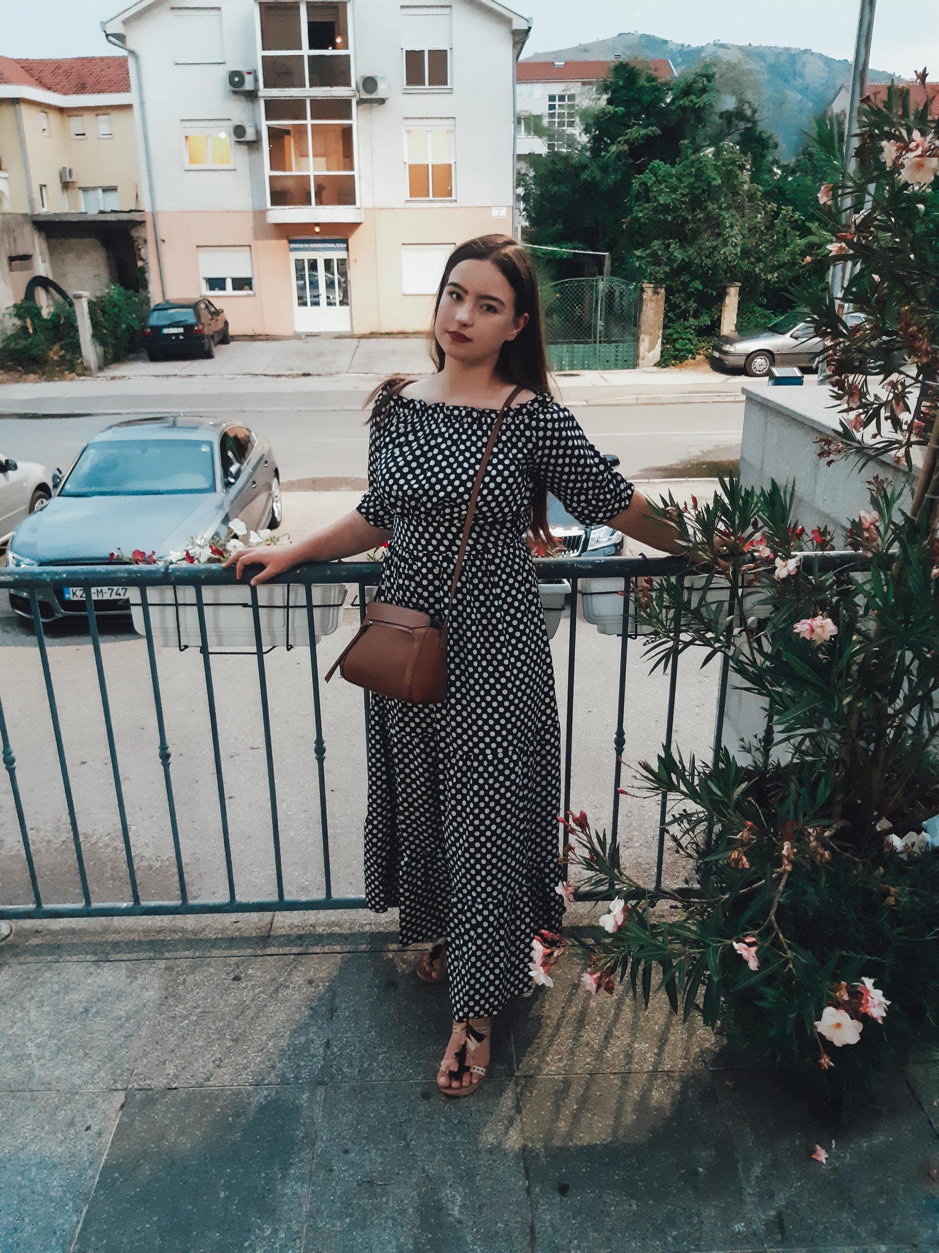 polka dot dress outfit livinglikev fashion blogger style blogger living like v vildana šuta vildana livinglikev polka dot dress rosegal review