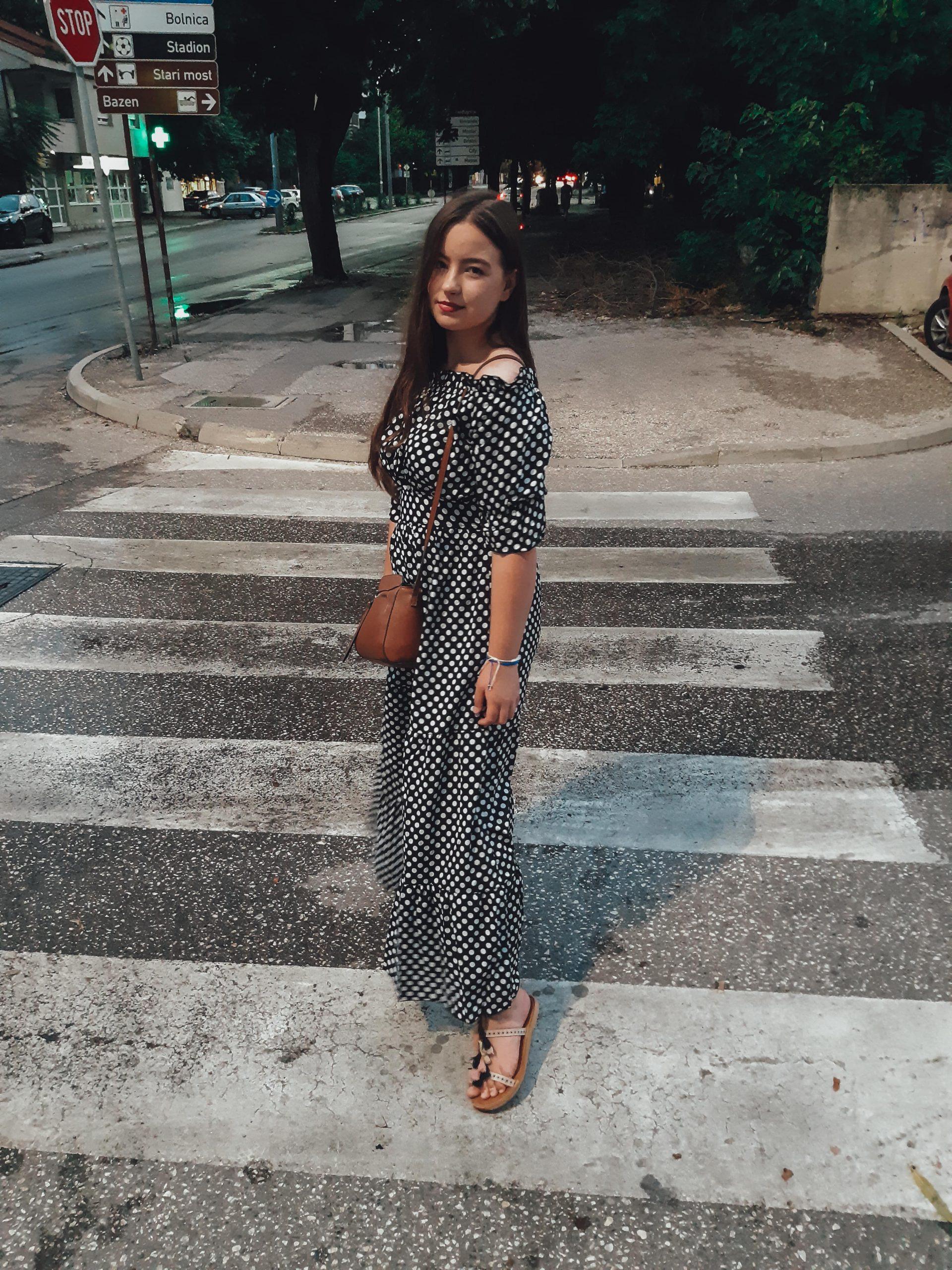 polka dot dress outfit livinglikev fashion blogger style blogger living like v vildana šuta vildana livinglikev polka dot pattern
