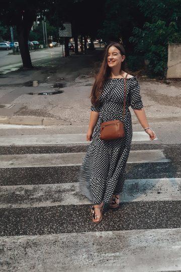 polka dot dress outfit livinglikev