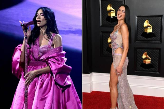 grammy 2021 outfits dua lipa all dua lipa outfits grammy awards 2021