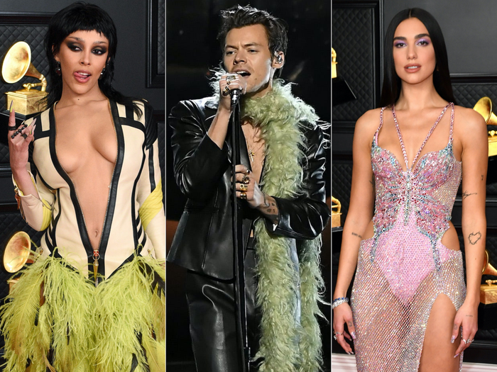 grammy 2021 outfits harry styles best dressed grammy awards 2021