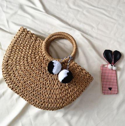 newchic bags straw handbags livinglikev fashion blogger